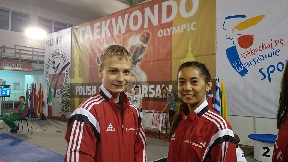 Casper Morild og Arielle Malveda - Polish Open 2014