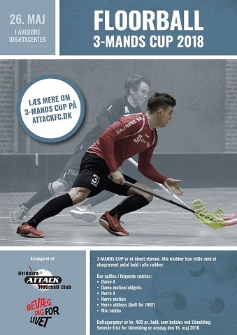 Floorball 3-mands Cup 2018 i Avedøre Idrætscenter