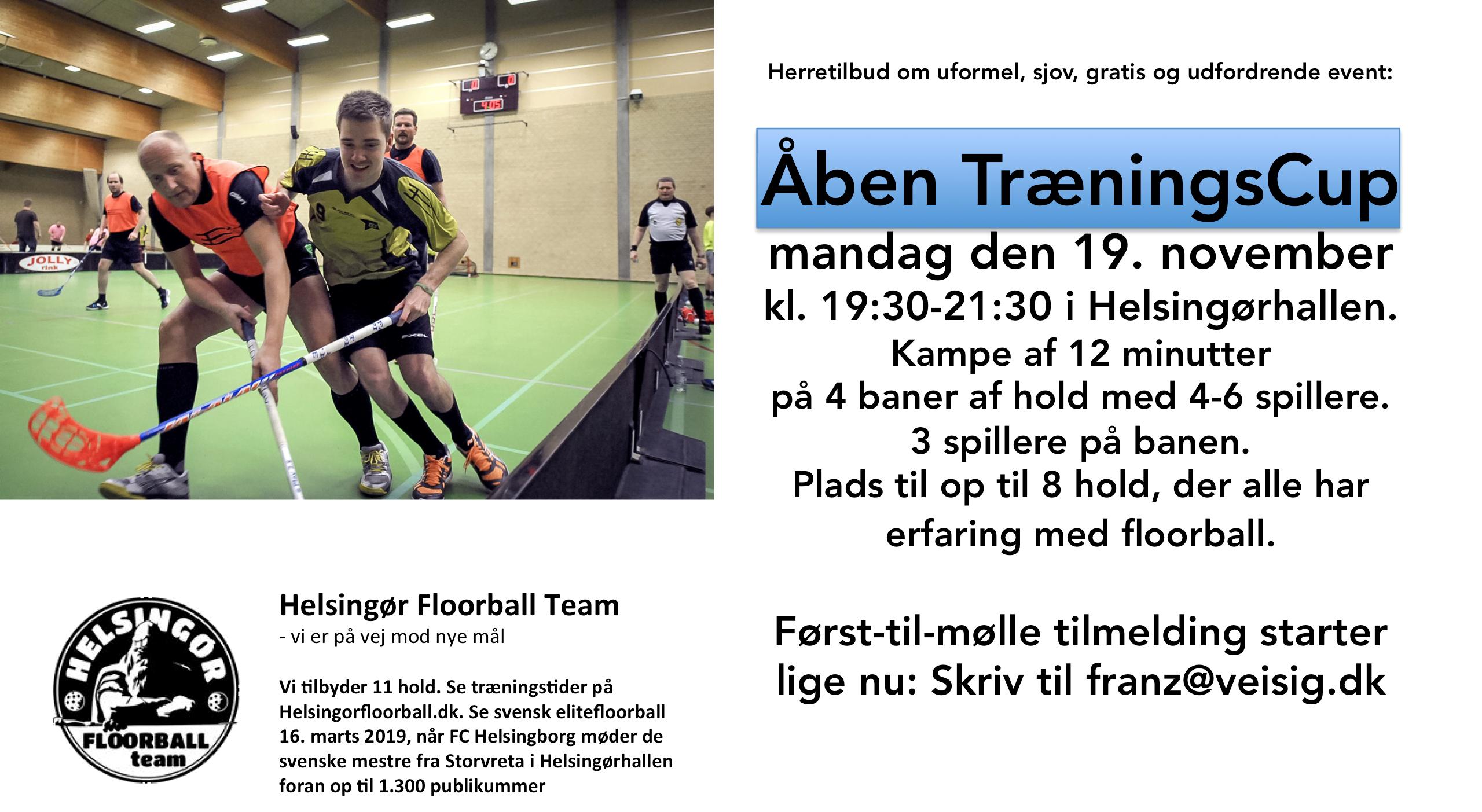 Herretilbud  Åben og gratis TræningsCup 19. november 2018 2459437dea12f