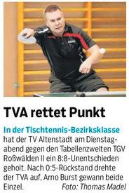Arno Burst, TV Altenstadt