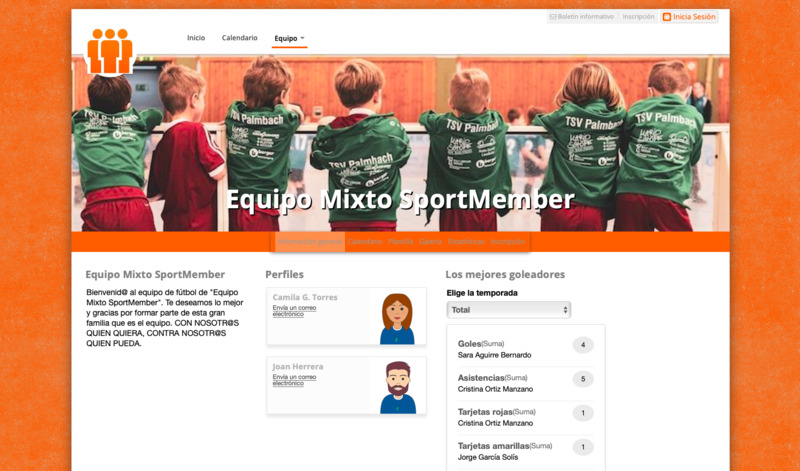 Pagina web para equipos