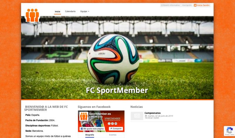 Pagina web para clubes