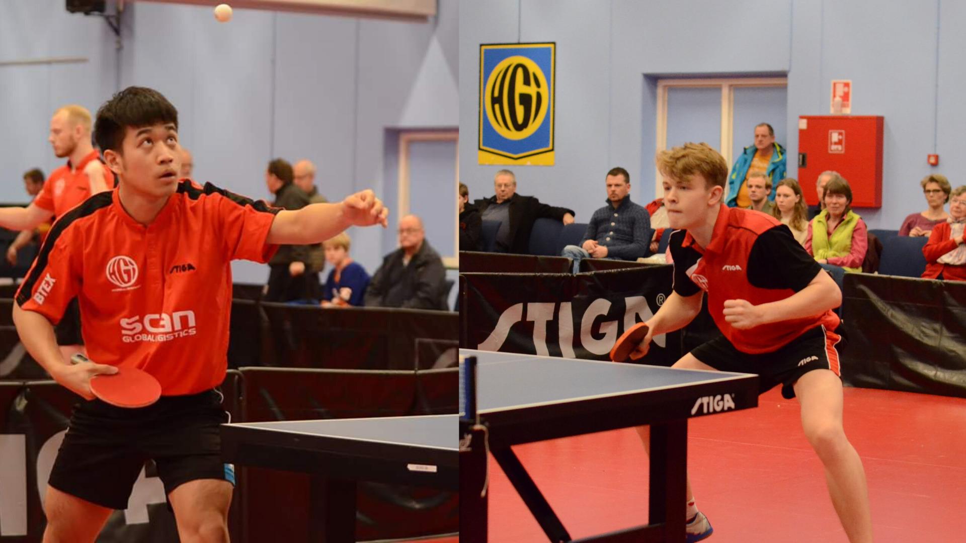 Liao Cheng-Ting (Taiwan) og Tom Jarvis (England) mødtes i VM-kvartfinalen.