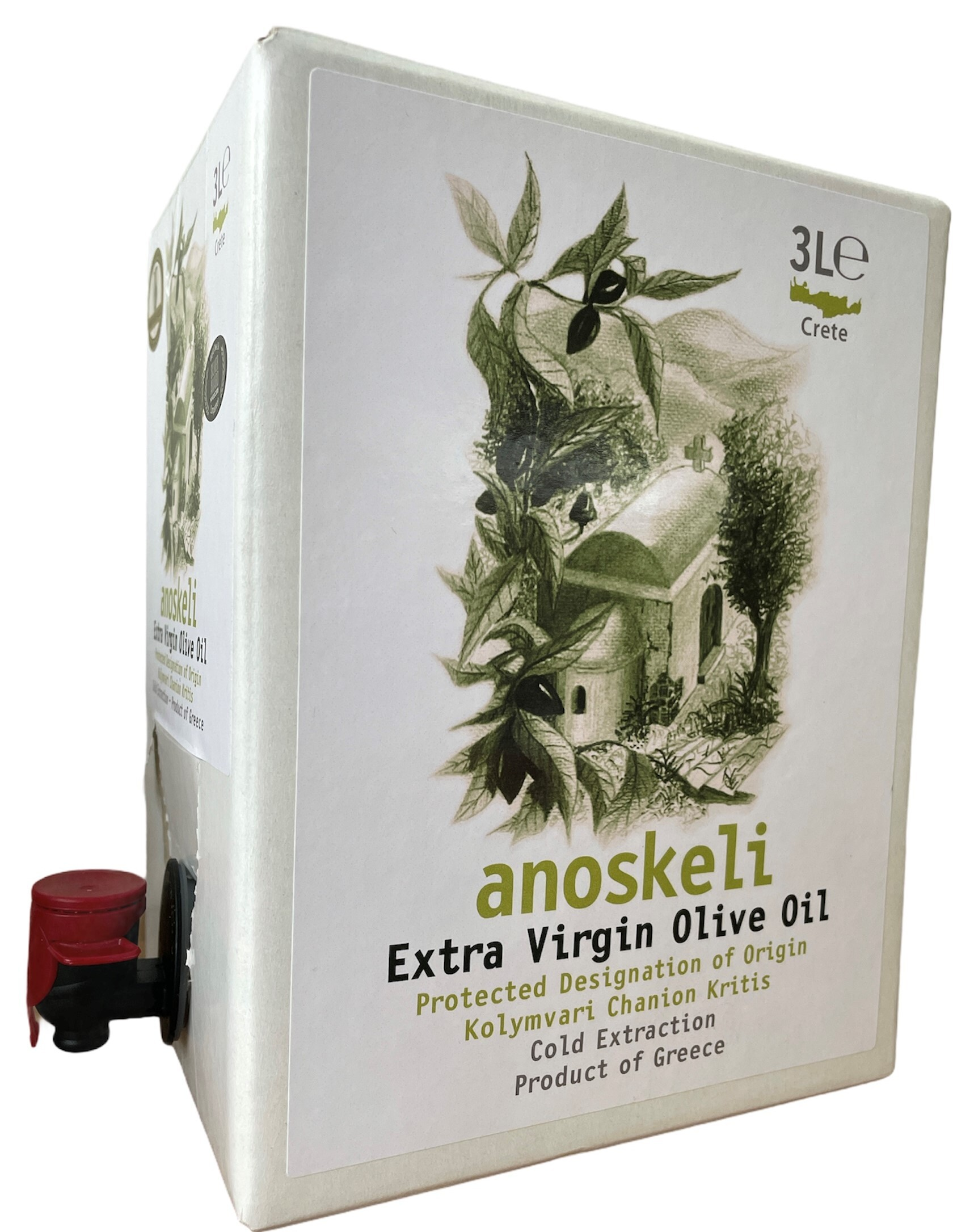 Olivenolie fra CretanGreen - 3L bag in box