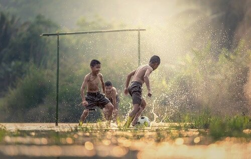 Regen-fussball